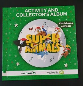 Woolworths Super Animals Activity & Collector's Album Christmas Edition Complete