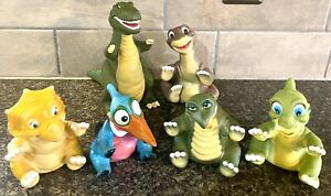 Vintage Pizza Hut 1988 Complete Set 6 Land Before Time Hand Puppets Toy Dinosaur