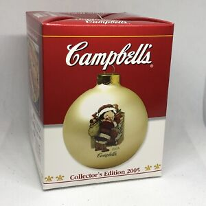 2005 Campbells Soup Kids Collectors Edition Ball Ornament IN BOX