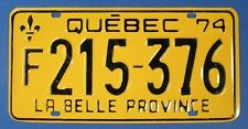 1974 QUEBEC COMMERCIAL  LICENSE PLATE #F215376                        SL2027