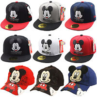 Kids Boys Girls Mickey Minnie Mouse Baseball Cap Children Outdoor Snapback Hats