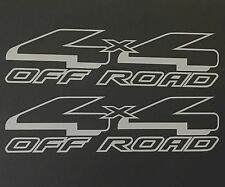 2 SILVER 4X4 OFF ROAD DECAL STICK TRUCK FORD F-150 CHEVY SILVERADO DODGE TOYOTA