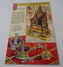 Vintage Postcard of The Coronation Chair - Queen Elizabeth II Coronation 1953