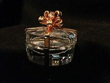 Swarovski Crystal Figurine-Oval Hinged Present/Gift Of Diamonds With Gold Ribbon