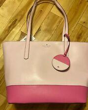 kate spade Briel Large Tote Shoulder Handbag Stnfptpkml Pink Colorblock Bag NWT