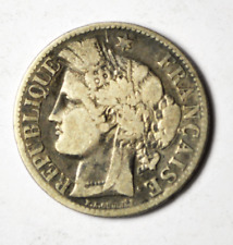 1887 A France Silver Two Francs Coin Rare KM#817.1