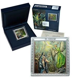 SPAIN 10 Euro 2019 Silver 1oz. Proof Museo del Prado El Greco 'The Annunciation'