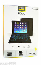 ZAGG ZAGGkeys Folio Case w/ Bluetooth Backlit Keyboard ( Apple iPad Air ) Black