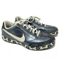 vintage 2007nike womens 8 Blue Metallic leather sneakers butterflies