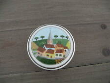 "Villeroy & Boch DESIGN NAIF Trinket/Candy Box & Lid 3"" Village Scene"