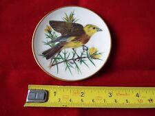 FRANKLIN PORCELAIN SONGBIRDS OF THE WORLD MINI PLATE. YELLOWHAMMER