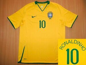 sale *MINT Brazil RONALDINHO 2008 shirt camisa L LARGE jersey soccer Brasil Copa