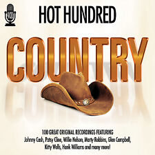 4 CD BOX HOT HUNDRED COUNTRY CAS CLINE NELSON ROBBINS CAMPBELL WILLIAMS REEVES