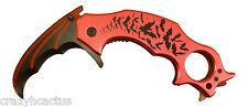 Batman Knife Karambit Hawkbill Tactical Assisted Opening Folding Blade RED