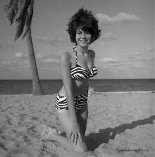 1966 Bunny Yeager Estate Pinup Camera Negative Beautiful Brunette Mod Model OOAK