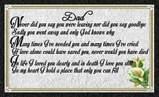 (Dad Memorial) WALL DECOR,DISTRESSED,RUSTIC, PRIMITIVE,HARD WOOD,SIGN, PLAQUE