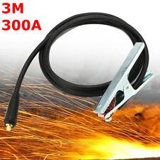 300A 3m Câble de Soudure Soudage Pince Masse Connecteur pr MIG TIG ARC Welder