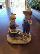 Homco 1985 Denim Days 'Summer Harvest' Figurine #1507