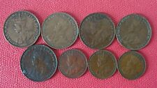 HONGKONG-FULL SET OF KING GEORGE V (1923-1934) ONE CENT COIN  (8 COINS)  (S#-01)