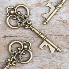 50 Antique Gold Skeleton Key Bottle Openers Vintage Keys - Queen