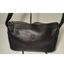 Ralph Lauren Vintage Black Pebble Leather Camera Case Pocket Crossbody Bag 0025