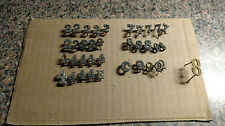 Lot 36 Vintage Military Lapel Hat Pin Fire Department Police Brass