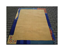 Modern Chinese Yellow large handmade border kiddy rug 4'5x6'3 FT (135x190CMS)