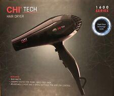 CHI TECH BLACK PROFESSIONAL HAIR DRYER 1600 WATTS GF8231 BRAND NEW OPEN BOX