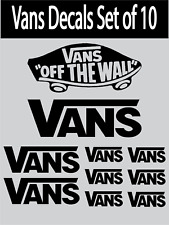 VANS LOGOS GRAPHICS STICKERS DECALS SKATE SURF SET OF 10 DECALS