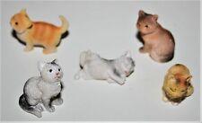 Tierfiguren Katzen Figur 5erSet Krippenzubehör oder Dekoration 1,4  bis 2,5 cm h
