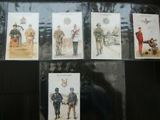 One Complete Set Trade Military Postcards Other Regiments