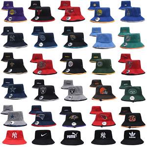 Outdoor Boonie Bucket Hat Sports Football Basketball Logo Fishing Summer Sun Cap