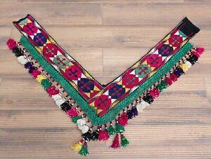"""7.09"""" x 48.82"""" Tassel Segusha Belly Dance Uzbek VINTAGE FAST Shipment UPS 12019"""