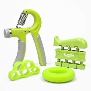 Hand Grip Exercise Set 4 Piece Set of Wrist Forearm and Finger Strengtheners