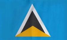 ST LUCIA FLAG 5' x 3' Saint Lucian Caribbean Flags