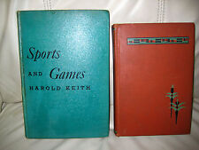 LOT OF 2 SPORTS AND GAMES BOOKS - 1 FROM 1903  - VINTAGE ITEMS FOR A COLLECTOR