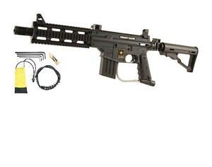 New Tippmann US ARMY PROJECT SALVO Paintball Gun with Folding Sniper/CQB Stock