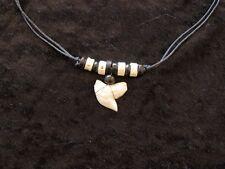 TIGER SHARK tooth necklace Pescecane SQUALO  requin tiburón estafador акула c 67