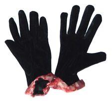 Paire de GANTS femmes tailles S / M créateur noir & rouge hiver froid neuve