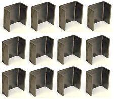 "12 - 2x4 Steel Weld On Trailer Truck Bed Stake Pocket 7 Gauge 3/16"""