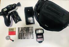 Canon T90 Slr Film Camera Fd 35mm-70mm 1:2.8-3.5 lens Flash Unit, Case, & Filter