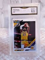 LeBron James Non Rookie 2019 Donruss #94 Los Angeles Lakers Graded GMA 8.5