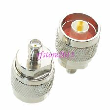 1pce Adapter Connector Slide-on N male plug to SMA female jack for WIFI antenna