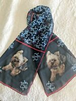 Yorkie, Yorkshire Terrier Original Art Scarf - 40% Mark Down!