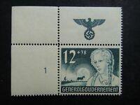 Germany Nazi 1940 Stamp MNH German Peasant Girl Swastika Eagle Generalgouverneme