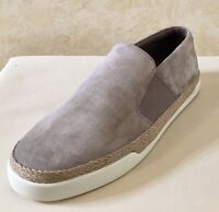 Women Vince Acker Slip On Espadrille Sneakers Suede Gray MSRP $195