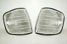 Mercedes S-Class W126 4-Door Corner Light Turn Signal Clear Pair 1980-1991