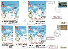 SET BRITISH & NEPALESE ARMY MOUNT EVEREST 1976 EXPEDITION COVERS - SOME SIGNED.