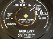 """PETER & GORDON - NOBODY I KNOW      7"""" VINYL"""