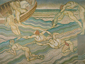 Bathing : Duncan Grant, 1911 : Archival Quality Art Print